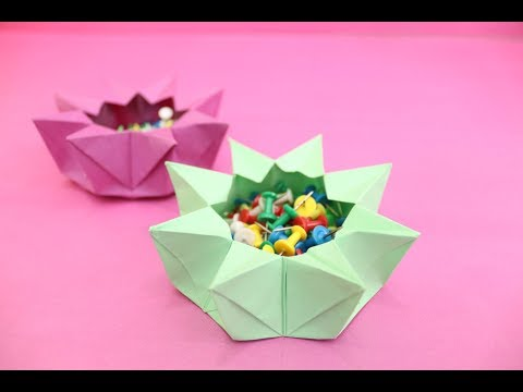 DIY Beautiful Paper Bowl With Paper (Origami)    Easy & Simple Tutorial    Craftyhood VD # 063