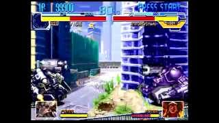 Cyberbots: Fullmetal Madness (Sega Saturn) Arcade Mode as Gawaine (Vice)