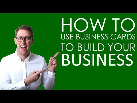 How To Use Business Cards To Build Your Business Youtube