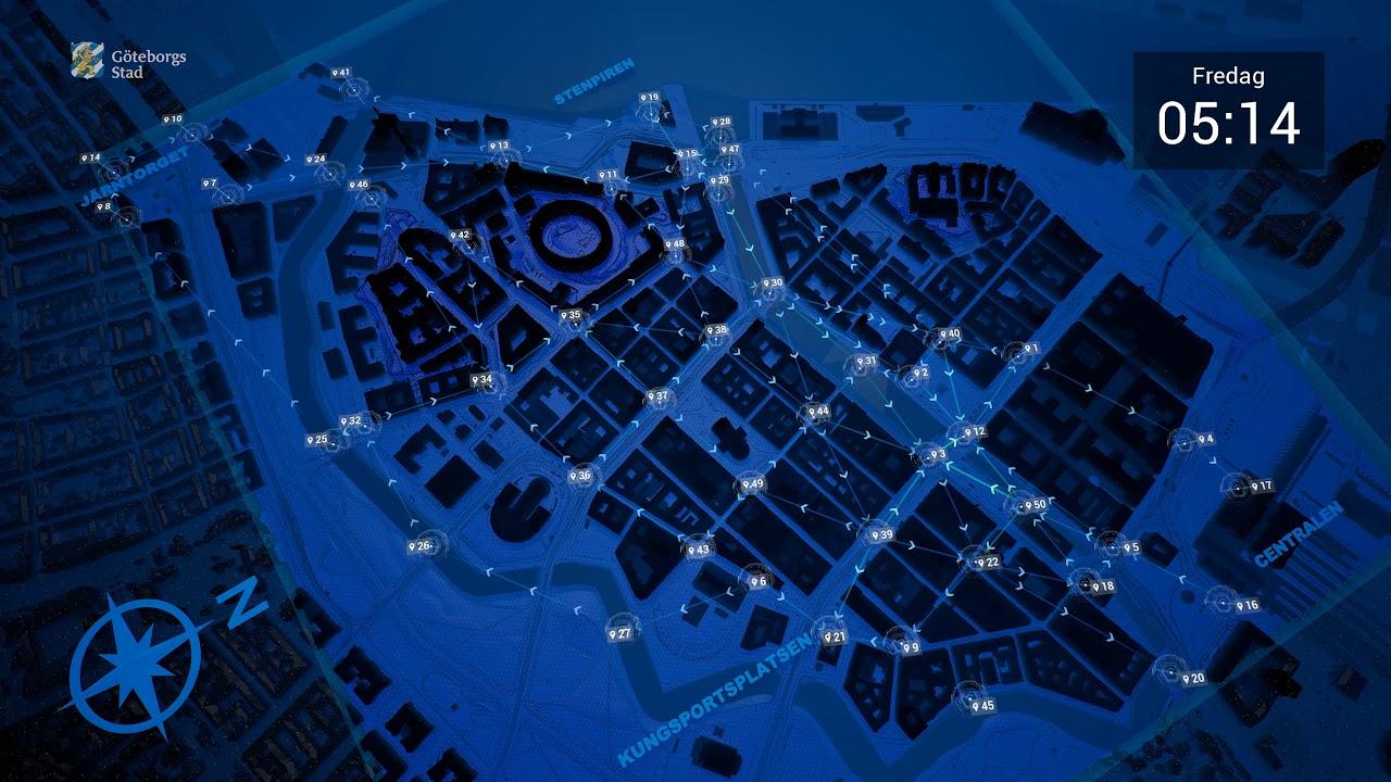 Se hur flödet av gående ser ut i centrala Göteborg