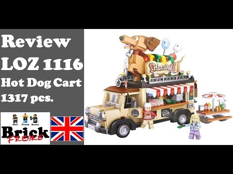 LOZ Mini BLOCKS 1116 Hot Dog Car Truck Lego Kinder Spielzeug Geschenk