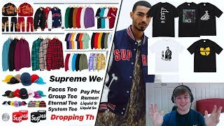 Supreme FW18 Week 5 - Full Droplist & Thoughts