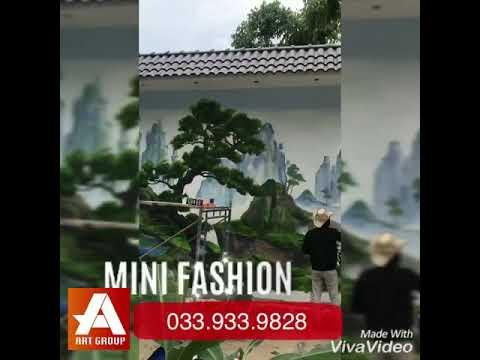 Vẽ tranh tường Phong Cảnh , Củ Chi. Bình Dương lH 0339339827