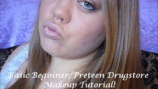 Basic Beginner/Preteen Full Face Drugstore Makeup Tutorial!