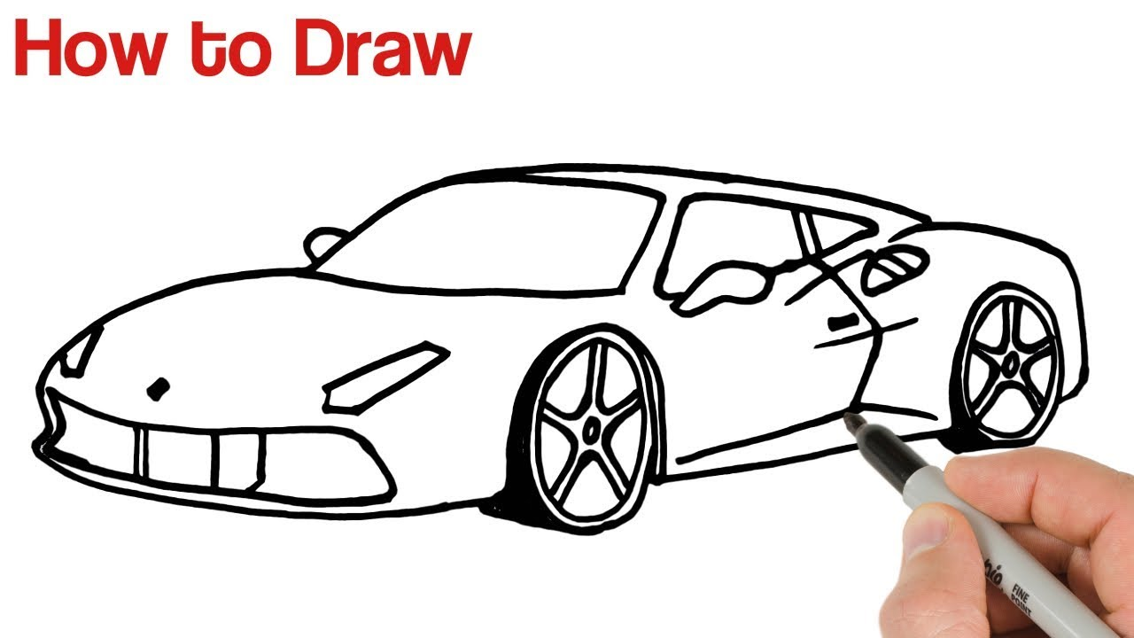 How To Draw A Sports Car Ferrari Youtube