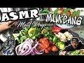 ASMR MEAL PREP | HOMEMADE SALAD MUKBANG | HEALTHY EATING