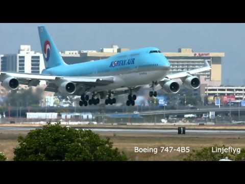 Korean Airlines six aircraft types serving LAX