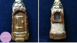 Декор бутылок монетами своими руками. Как декорировать бутылку. Делаем домик из бутылки мастер класс