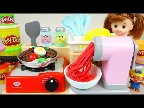 Thumbnail: Play Doh Spaghetti cooking playdough with Baby doll Pororo 뽀로로 콩순이 와 플레이도우 스파게티 요리놀이