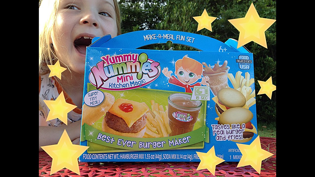 yummy nummies toy review hamburger and french fries mini kitchen