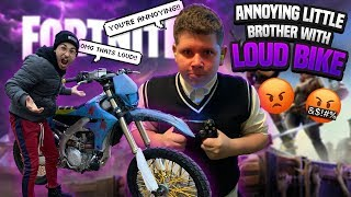 BOTHERING LITTLE BROTHER WITH DIRT BIKE WHILE HE'S PLAYING FORNITE ! | BRAAP VLOGS