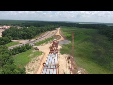 Ouachita River Bridge Construction Summer 2016