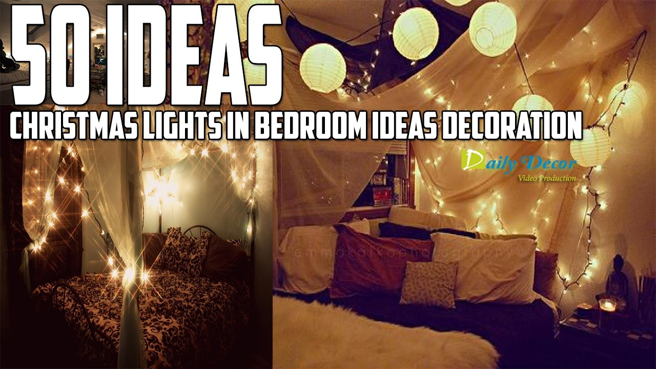 christmas lights in bedroom ideas decoration daily decor - Christmas Lights Bedroom Decor
