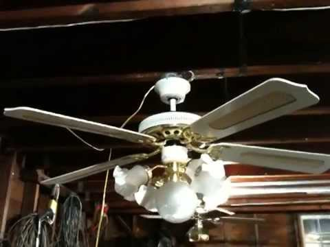 Litex 52 whitebrass signet deluxe ceiling fan youtube litex 52 whitebrass signet deluxe ceiling fan aloadofball Image collections