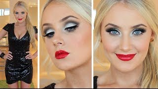 NEW YEARS EVE Makeup + Hair Tutorial!