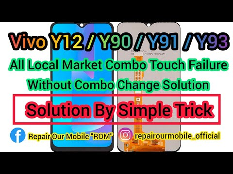 Vivo Y12/Y90/Y91/Y93 All Local Market Combo Touch failure Fault Solution By Simple Trick 🔥