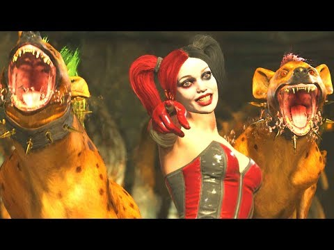 Injustice 2 - Harley Quinn Super Move on All Characters and Premier Skins (1080p 60FPS)