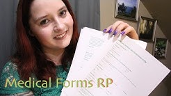 [ASMR] Medical Forms Role Play