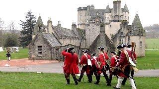 Castle Fraser hosts Jacobites & Redcoats from Alan Breck's Volunteer 1745 re-enactment society