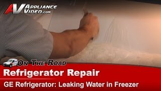 GE, Hotpoint & RCA Refrigerator Repair - Leaking Water and Ice on unit floor - TCX18PACBRWW