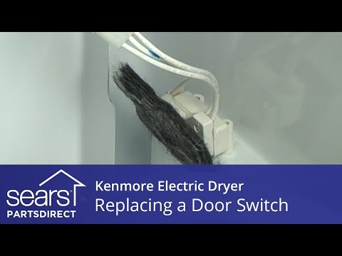 How to Replace a Kenmore Electric Dryer Door Switch - YouTube Wiring Diagram For Kenmore Dryer Model on