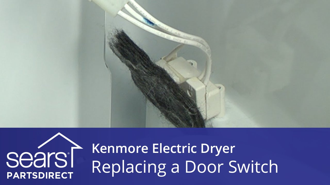 How To Replace A Kenmore Electric Dryer Door Switch Youtube Drive Belt Diagram In Addition Elite