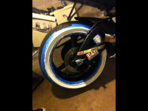 Sportbike With Whitewall Tires Youtube