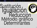 Método de Sustitución, Igualación, Reducción, Gráfico y Determinantes