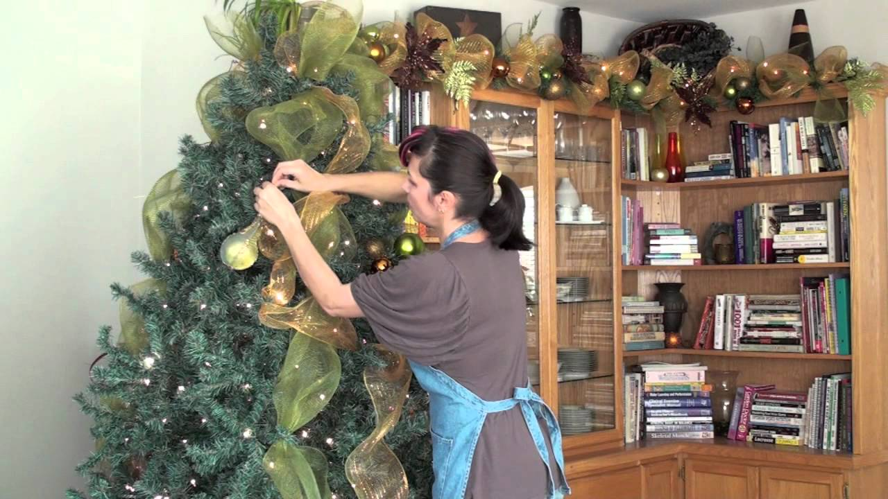christmas tree decorating sinamay tutorial5 awesome blings part 4 youtube