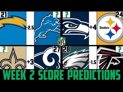 NFL Week 2 Score Predictions 2019 (NFL WEEK 2 PICKS AGAINST THE SPREAD 2019)
