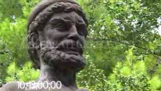 0660 Bronze statue of Odysseus (Ulysses) on the island of Ithaca, Greece