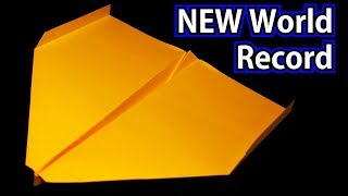 How To Make The NEW WORLD RECORD Paper Airplane -2019- BEST paper plane / Sky King