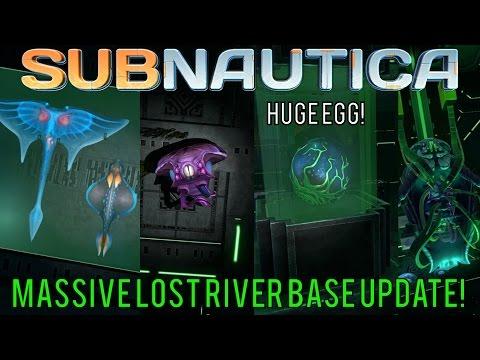 HUGE EGG IN THE LOST RIVER BASE + UPDATED WARPER ROOM! | Subnautica News