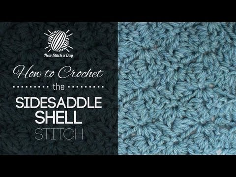 Crochet Stitches In Youtube : How to Crochet the Sidesaddle Shell Stitch - YouTube