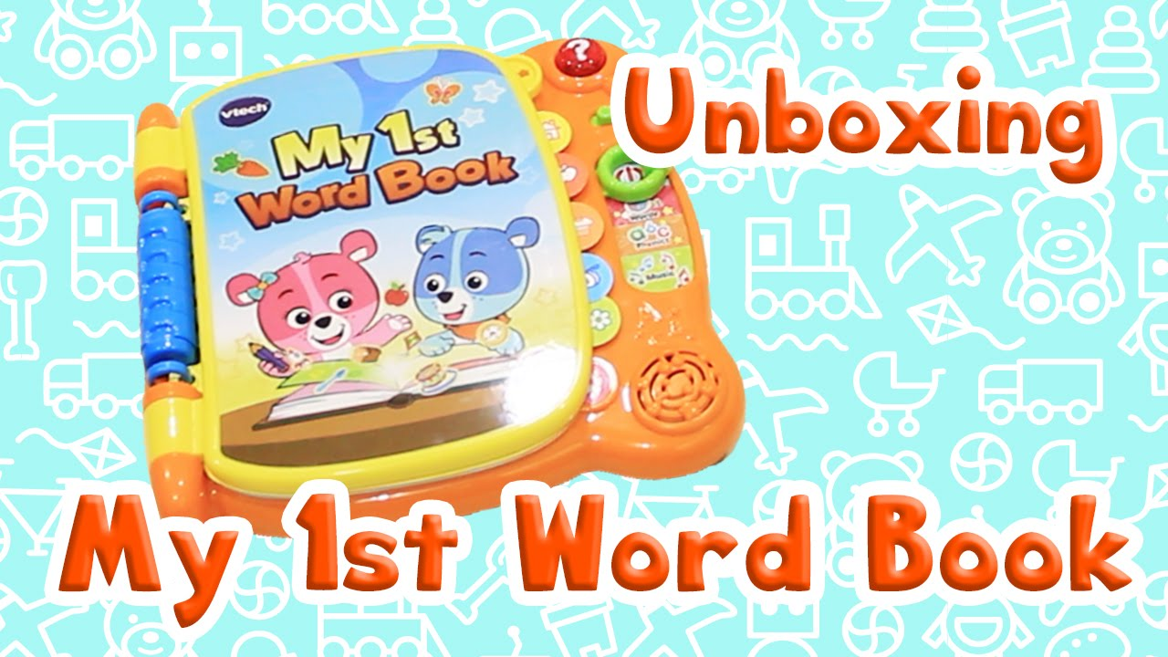 unboxing vtech baby my 1st word book 電子英文學習書開箱 youtube