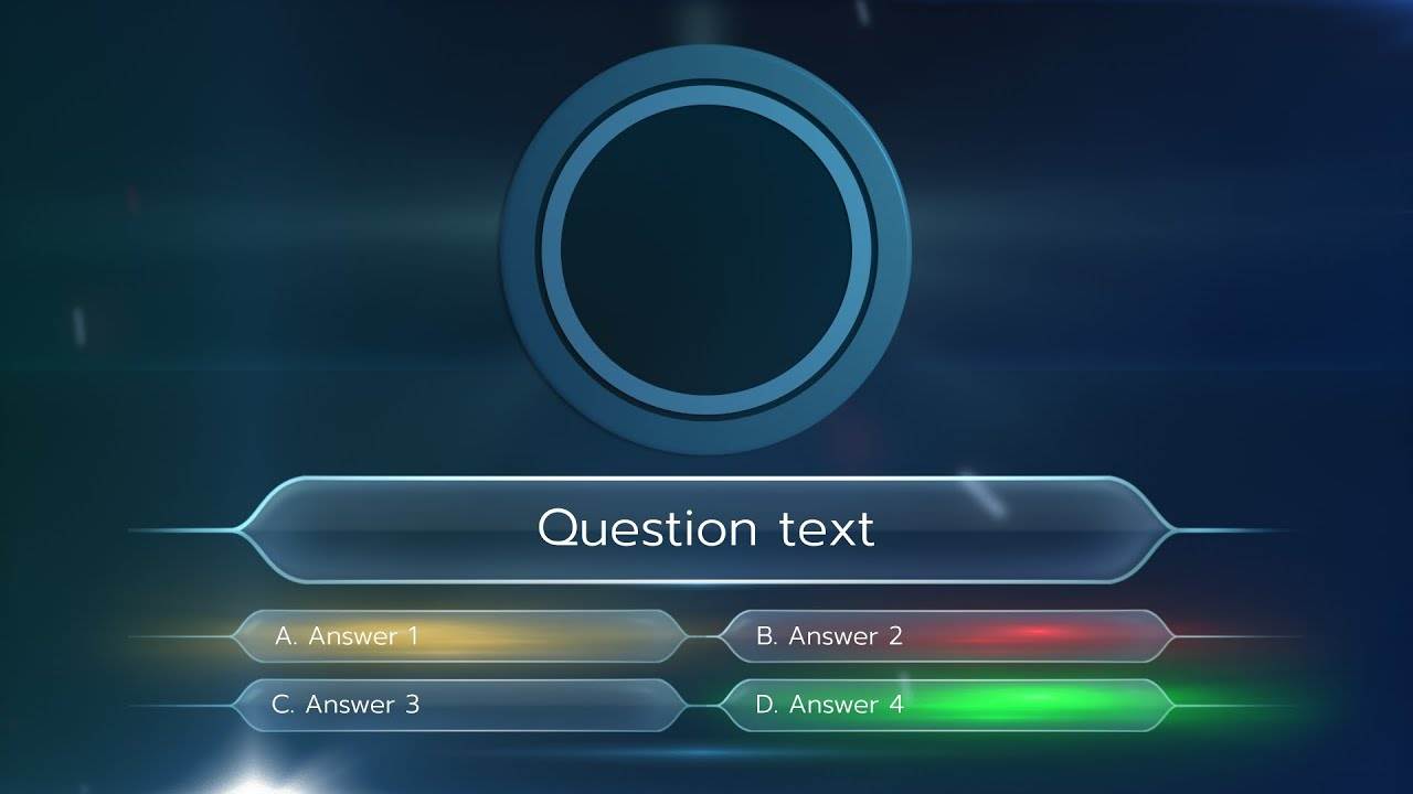 the quiz - after effects project v1.1 - youtube, Powerpoint templates