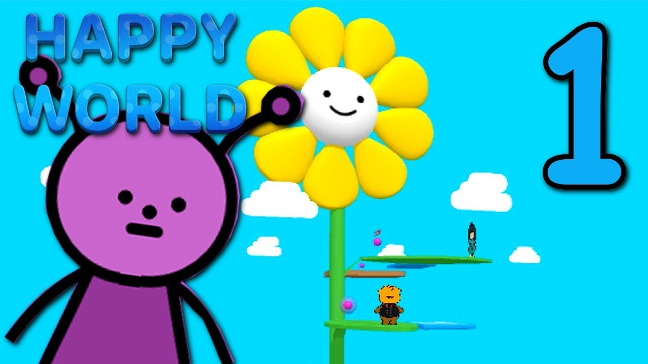 HAPPY WORLD – Making the World HAPPY! ( Bad Ending ) Manly Let's Play [ 1 ]