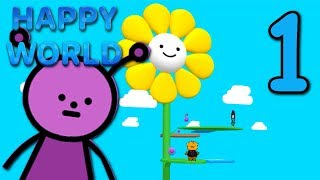 HAPPY WORLD - Making the World HAPPY! ( Bad Ending ) Manly Let's Play [ 1 ]