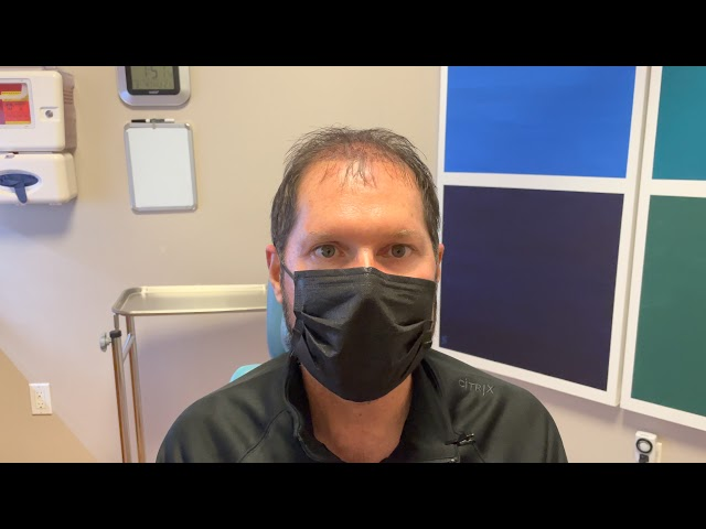 Dallas Male Hair Transplant Testimonial Day One