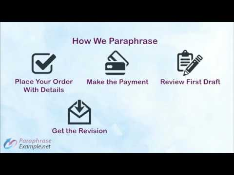 Paraphrase Example and Tips - YouTube