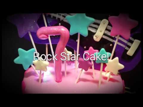 Flashing Guitar Rockstar Birthday cake