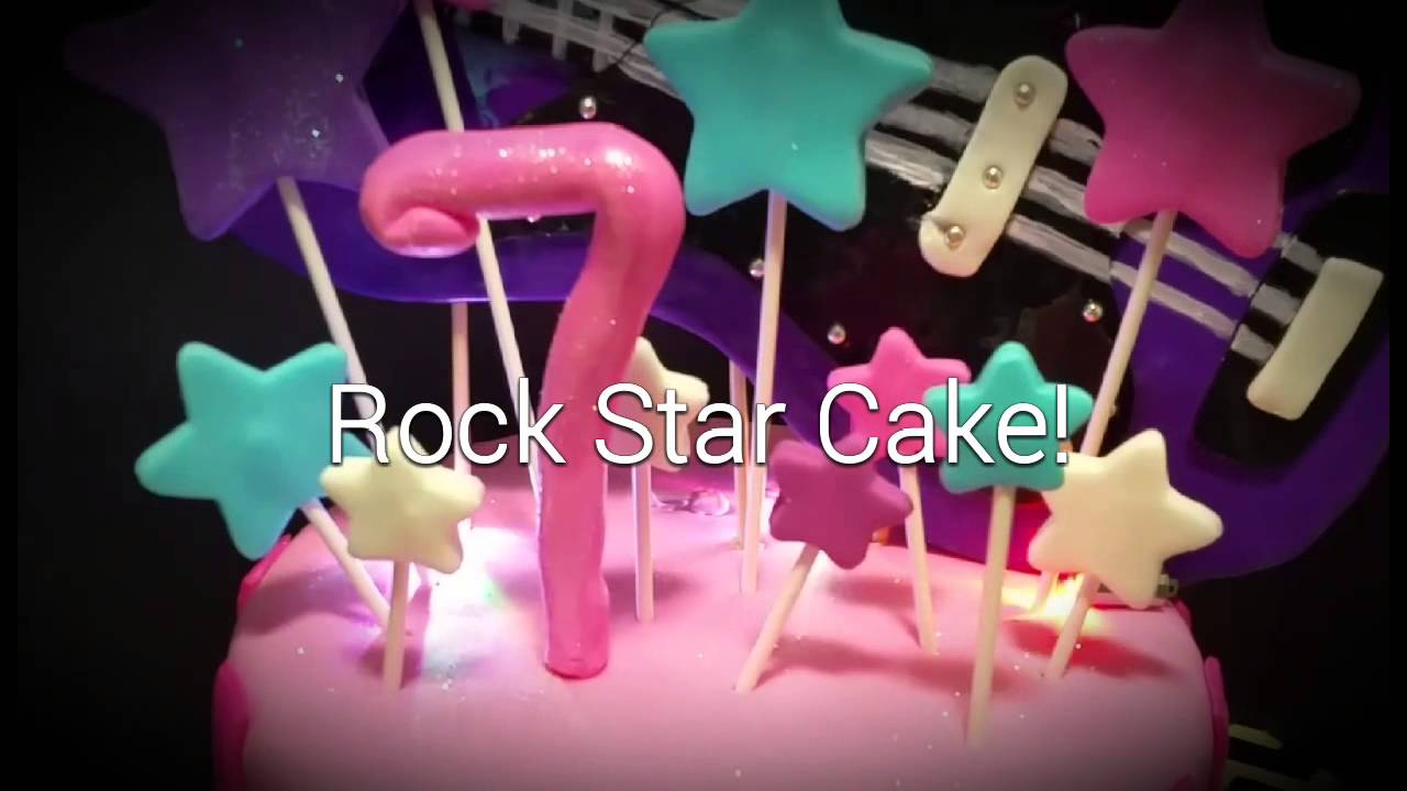 Flashing Guitar Rockstar Birthday Cake Youtube
