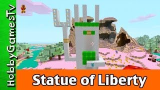 Minecraft Statue of Liberty made by HobbyKid in Candy Land