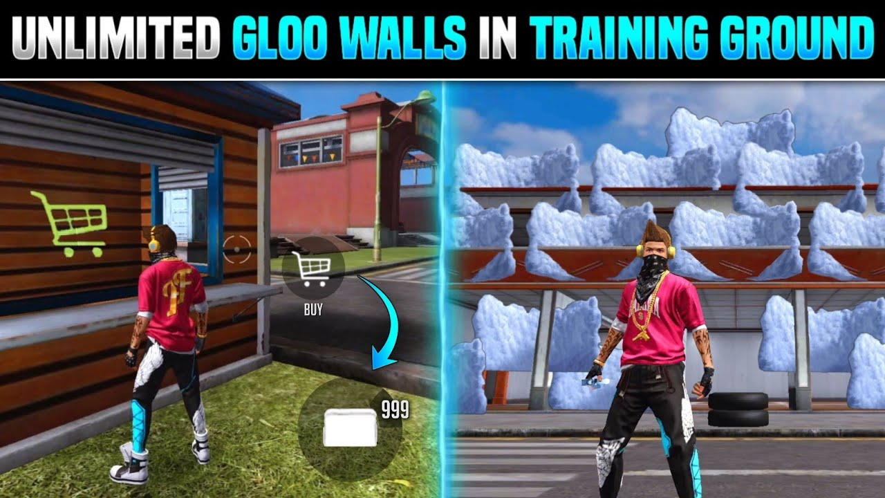 Download FREE FIRE UNLIMITED GLOO WALL TRICK IN TRAINING MODE | TOP 5 NEW TRICKS FREE FIRE - GARENA FREE FIRE