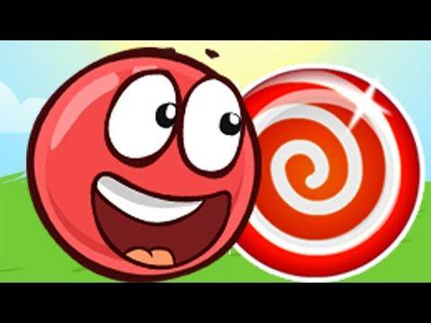 Новый КРАСНЫЙ ШАР, Шарик ест конфеты, мультик игра, Детский летсплей #80