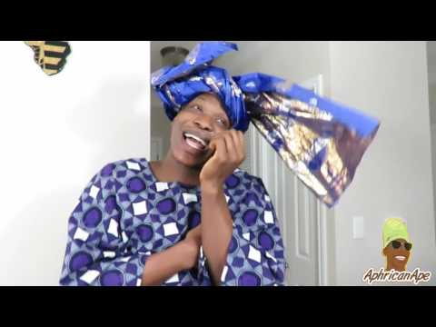 Video(skit): AfricanApe - Aunty At The Thanksgiving Dinner!!!