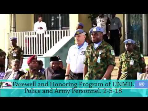 FAREWELL AND HONORING PROGRAM OF THE  UNITED NATION MISSION IN LIBERIA(UNMIL)