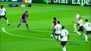 Lionel Messi 4 Goals Vs Arsenal Fc 1080i Youtube