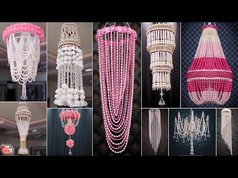 10 Best Easy Wall Hanging Ideas!!! DIY Pearl Chandelier || Jhumer Ideas!