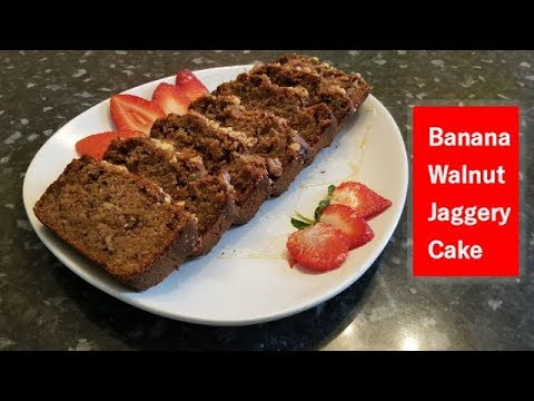 Banana Walnut Jaggery Cake Recipe/ Make Cake/How to make Cake Recipe/Cake for Kids/Cake Videos